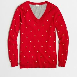 J crew factory embroidered dot sweater